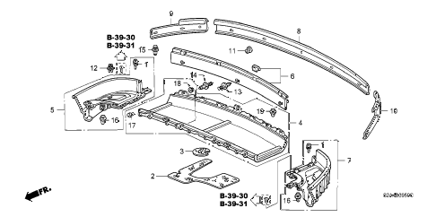 2002 s2000 S2000 2 DOOR 6MT REAR TRAY diagram