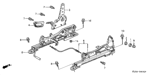 2000 s2000 S2000 2 DOOR 6MT SEAT COMPONENTS (R.) diagram