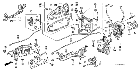 2007 s2000 S2000 2 DOOR 6MT DOOR LOCKS diagram