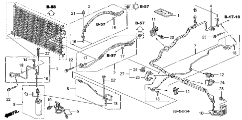 2005 s2000 S2000 2 DOOR 6MT A/C HOSES - PIPES diagram
