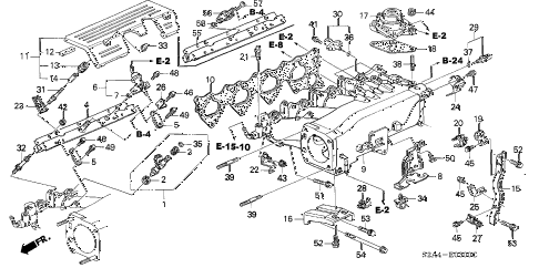 2003 s2000 S2000 2 DOOR 6MT INTAKE MANIFOLD diagram