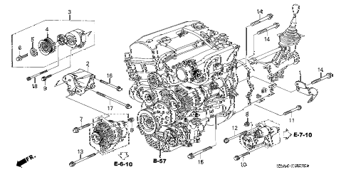 2006 s2000 S2000 2 DOOR 6MT AUTO TENSIONER BRACKET diagram