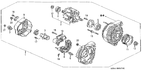 2004 s2000 S2000 2 DOOR 6MT ALTERNATOR (DENSO) diagram