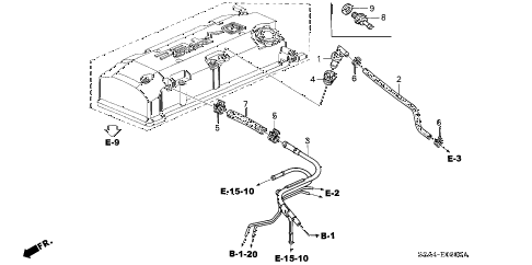 2001 s2000 S2000 2 DOOR 6MT BREATHER TUBE diagram