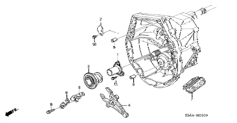 2004 s2000 S2000 2 DOOR 6MT MT CLUTCH RELEASE diagram