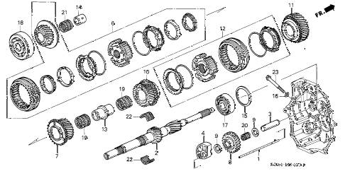 2003 s2000 S2000 2 DOOR 6MT MT MAINSHAFT (1) diagram