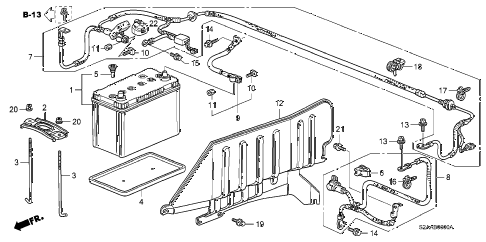 2009 s2000 BASE 2 DOOR 6MT BATTERY diagram