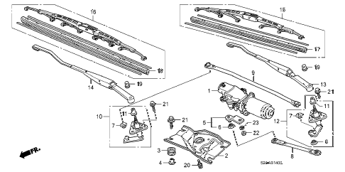 2009 s2000 CR(WITH AC) 2 DOOR 6MT FRONT WIPER diagram