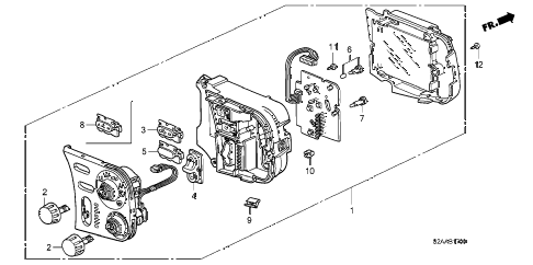 2008 s2000 CR 2 DOOR 6MT HEATER CONTROL diagram