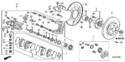 2008 s2000 CR(WITH AC) 2 DOOR 6MT REAR BRAKE diagram
