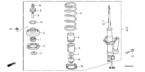 2008 s2000 BASE 2 DOOR 6MT REAR SHOCK ABSORBER diagram