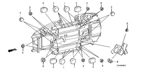 2008 s2000 BASE 2 DOOR 6MT GROMMET (LOWER) diagram