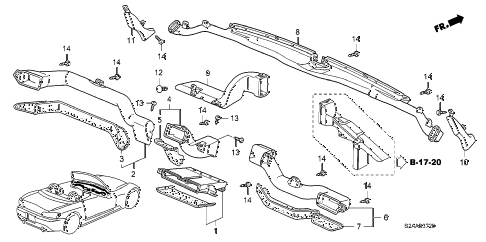 2009 s2000 BASE 2 DOOR 6MT DUCT diagram