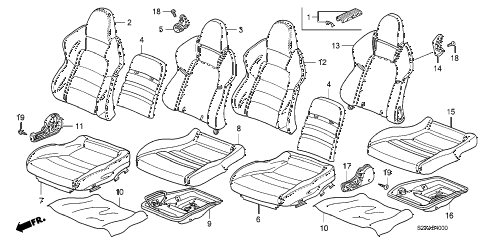 2008 s2000 BASE 2 DOOR 6MT SEAT diagram