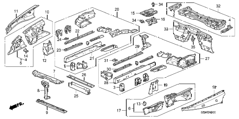 2008 s2000 BASE 2 DOOR 6MT FRONT BULKHEAD diagram