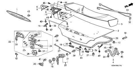 2009 s2000 BASE 2 DOOR 6MT TRUNK LID diagram