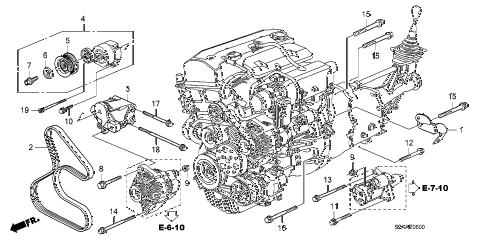 2008 s2000 CR(WITH AC) 2 DOOR 6MT AUTO TENSIONER BRACKET diagram