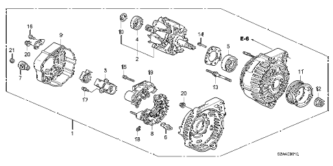 2008 s2000 CR 2 DOOR 6MT ALTERNATOR (DENSO) diagram