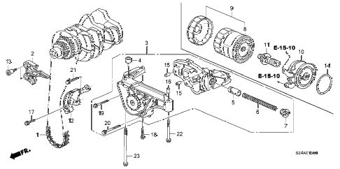 2008 s2000 BASE 2 DOOR 6MT OIL PUMP diagram