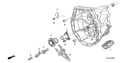 2009 s2000 CR(WITH AC) 2 DOOR 6MT MT CLUTCH RELEASE diagram