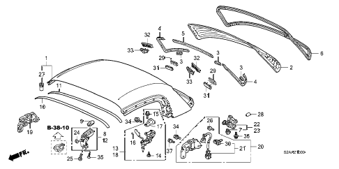 2008 s2000 BASE 2 DOOR 6MT ROOF PANEL (ACCESSORY HARDTOP) diagram