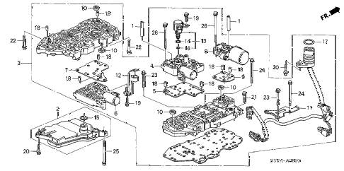 2005 insight DX 3 DOOR CVT AT VALVE BODY diagram