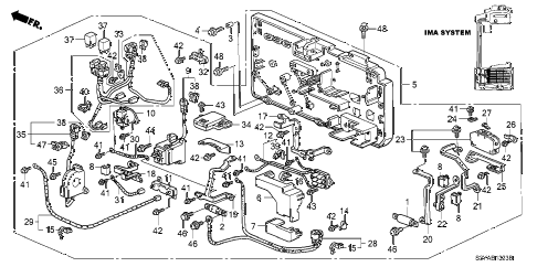2005 insight DX 3 DOOR 5MT IMA MAIN SWITCH - JUNCTION BOARD diagram