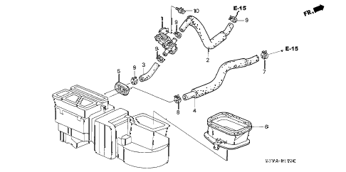 2004 insight DX 3 DOOR 5MT WATER VALVE diagram