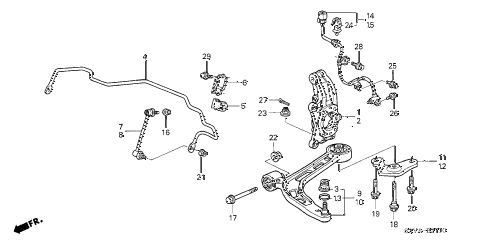 2005 insight DX 3 DOOR CVT FRONT LOWER ARM diagram