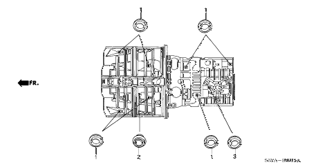 2006 insight DX(A/C) 3 DOOR 5MT GROMMET (LOWER) diagram