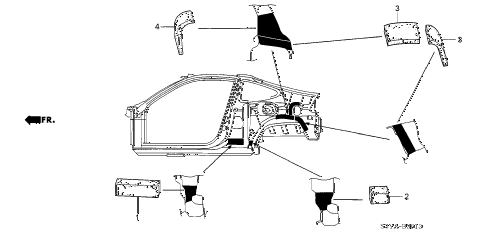 2005 insight DX 3 DOOR 5MT GROMMET (SIDE) diagram