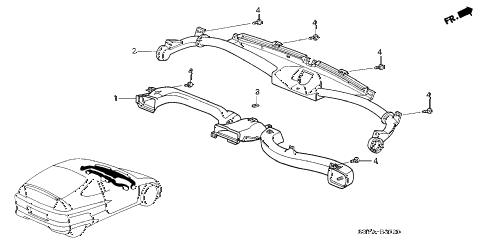 2005 insight DX 3 DOOR CVT DUCT diagram