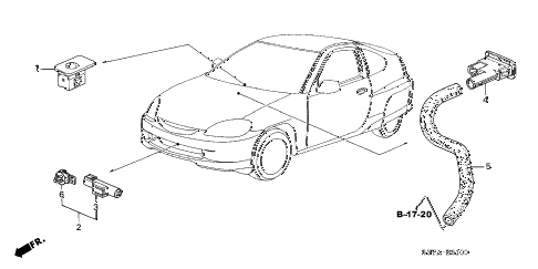 2006 insight DX(A/C) 3 DOOR 5MT A/C SENSOR diagram