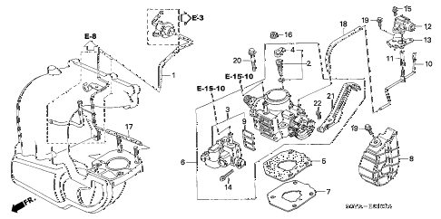 2005 insight DX 3 DOOR 5MT THROTTLE BODY diagram
