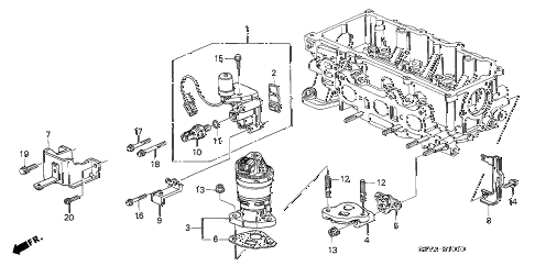 2006 insight DX 3 DOOR 5MT SPOOL VALVE diagram