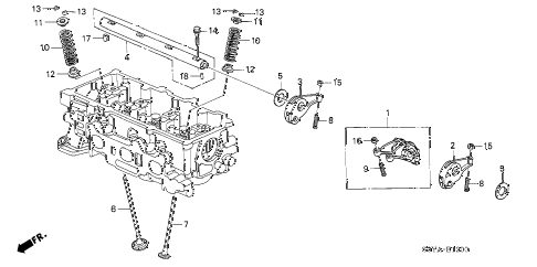 2005 insight DX 3 DOOR 5MT VALVE - ROCKER ARM diagram