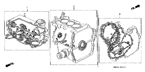 2004 insight DX 3 DOOR 5MT GASKET KIT diagram