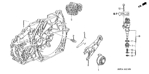 2005 insight DX 3 DOOR 5MT MT CLUTCH RELEASE diagram