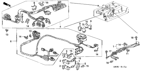 2004 insight DX 3 DOOR 5MT IMA WIRE HARNESS diagram