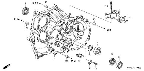 2005 insight DX 3 DOOR 5MT MT CLUTCH CASE diagram