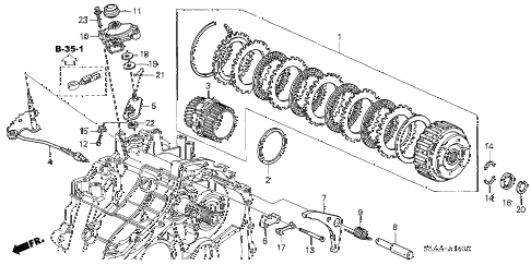 2004 civic GX(ABS SIDE SRS) 4 DOOR CVT CVT STARTING CLUTCH (CVT) diagram