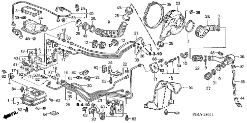 2004 civic GX(ABS SIDE SRS) 4 DOOR CVT FUEL TANK COMPONENTS diagram