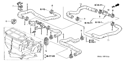 2004 civic DX 4 DOOR 4AT WATER VALVE diagram
