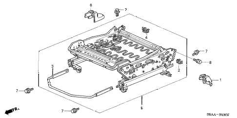 2004 civic DX-VP(VP SIDE SRS) 4 DOOR 5MT FRONT SEAT COMPONENTS (L.) diagram