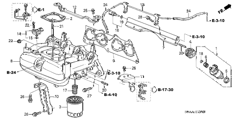 2004 civic GX(ABS SIDE SRS) 4 DOOR CVT INTAKE MANIFOLD (2) diagram