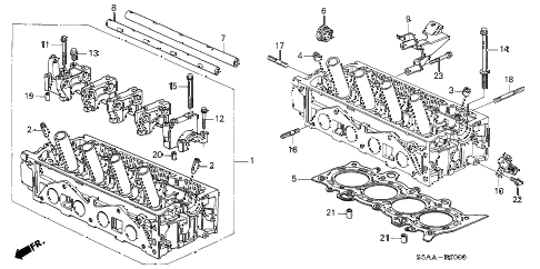 2004 civic DX 4 DOOR 4AT CYLINDER HEAD (SOHC) diagram
