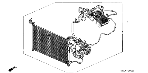 2004 civic DX 4 DOOR 4AT A/C KIT diagram