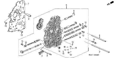 2005 civic EX(SPECIAL EDITIO 4 DOOR 4AT AT MAIN VALVE BODY diagram