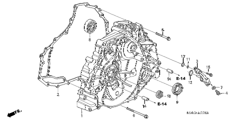 2005 civic GX(ABS) 4 DOOR CVT CVT FLYWHEEL CASE (CVT) diagram