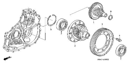 2005 civic GX(ABS) 4 DOOR CVT CVT DIFFERENTIAL (CVT) diagram